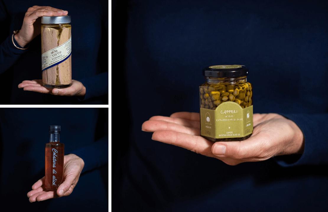 prodotti tipici siciliani tonno capperi colatura